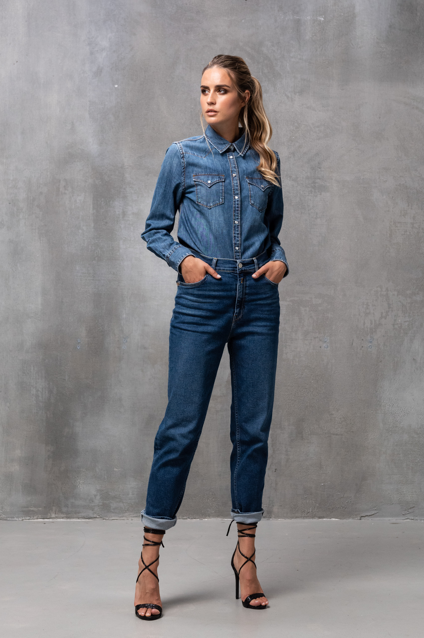 Tapered jeans fit guide women